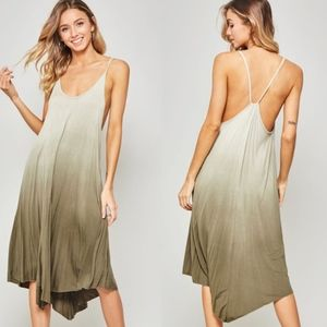 BAILEY Ombre Cami Dress - OLIVE